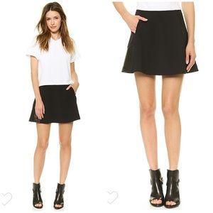 "Rag & Bone ""Montrose"" leather panel skirt 10"